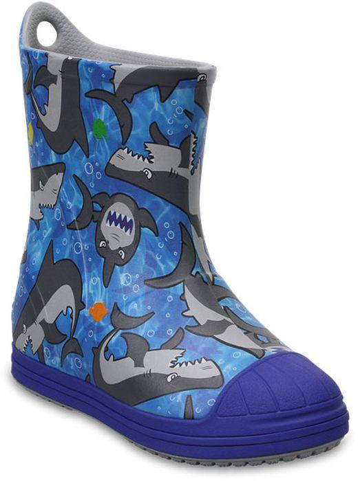 Резиновые сапоги детские Crocs, цвет: синий. 203516-4FQ. Размер J1 (31/32)203516-4FQРезиновые сапоги детские Crocs - идеальная обувь в дождливую погоду. Подошва с протектором предотвращает скольжение. В таких резиновых сапогах ножкам ребенка будет уютно.