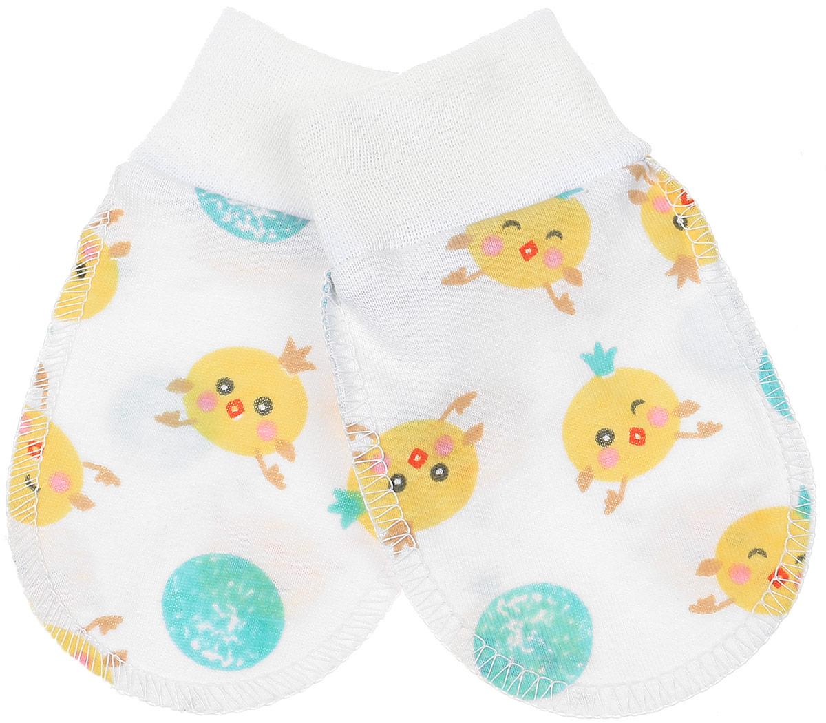 Рукавички Чудесные одежки, цвет: белый, салатовый, желтый. 5906. Размер 625906Рукавички для младенцев Чудесные одежки изготовлены из натурального хлопка. Они не раздражают нежную кожу ребенка. Широкие мягкие резинки не стягивают ручки. Швы выполнены на лицевую сторону.