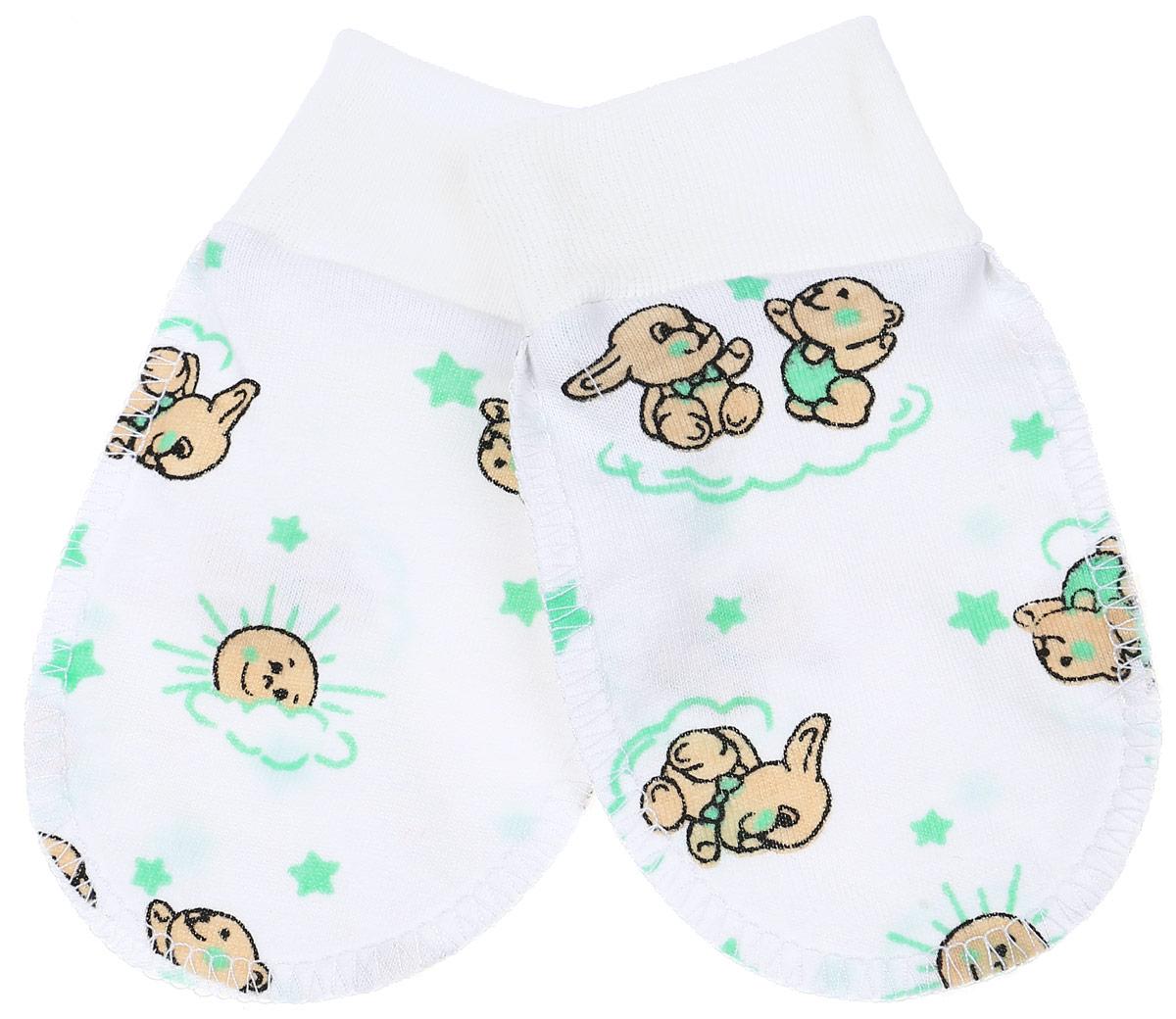 Рукавички Чудесные одежки, цвет: белый, салатовый, бежевый. 5906. Размер 625906Рукавички для младенцев Чудесные одежки изготовлены из натурального хлопка. Они не раздражают нежную кожу ребенка. Широкие мягкие резинки не стягивают ручки. Швы выполнены на лицевую сторону.