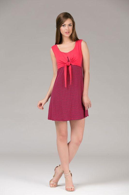 Платье домашнее женское Tesoro, цвет: амарант. 390Пл1. Размер 46390Пл1Великолепное платье из вискозы с эффектом накидки.