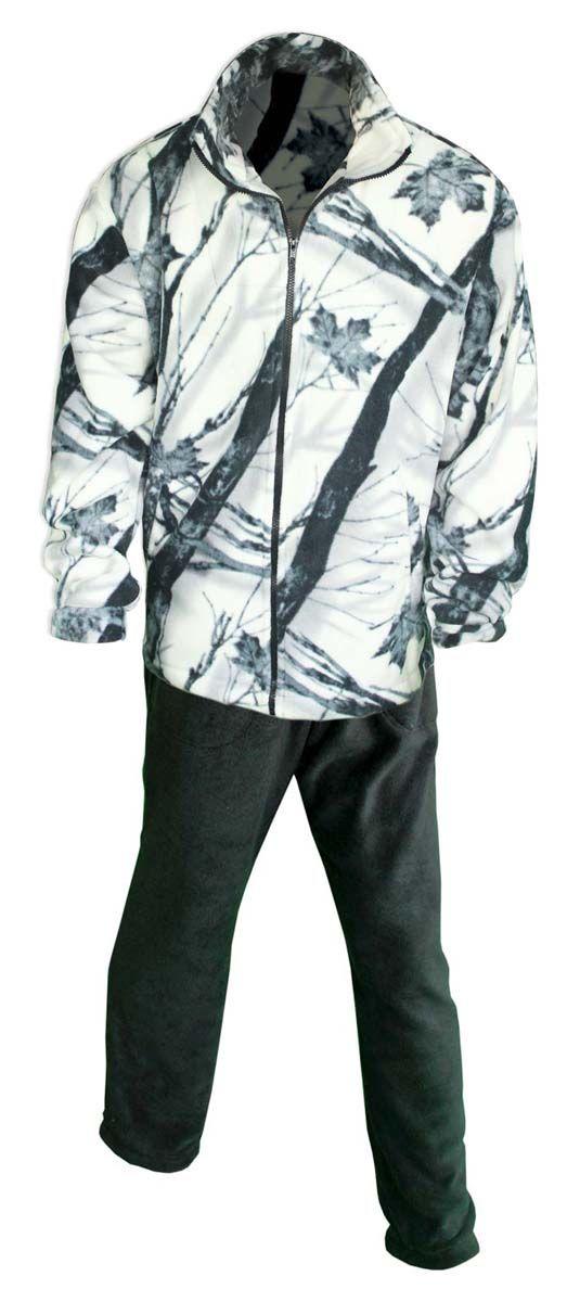 Комплект одежды Fisherman Комфорт: брюки, кофта, цвет: зимний лес. 42913. Размер 44/46КомфортТермокостюм Комфорт - флисовый костюм сочетает в себе преимущества термобелья и спортивного костюма. Можно одевать в качестве термобелья, или в сочетании с ним, под верхнюю одежду, а также использовать как обычные брюки и куртку. Куртка имеет разъемную молнию, высокий воротник и два глубоких кармана. Брюки также имеют два кармана и пояс на широкой резинке. Низ куртки и брюк регулируется при помощи резинки и стопперов. Термокостюм изготавливается из ткани Polar fleece плотностью 300 гр\м2.Polar fleece это: трикотажная ткань с двухсторонним ворсом: особо износоусточивым с наружной стороны - Polar и очень мягким и комфортным с внутренней - fleece. Лучший современный заменитель шерсти, дышащий и не вызывающий аллергии.Основные достоинства и преимущества: высокоэффективная теплозащита; мягкость и комфорт при прикосновении; отлично впитывает влагу и не холодит тело при намокании, как одежда из хлопка; быстро высыхает после намокания - быстрее , чем хлопок или шерсть;не обладает усадкой после стирки; не растягивается и не теряет форму в процессе эксплуатации.