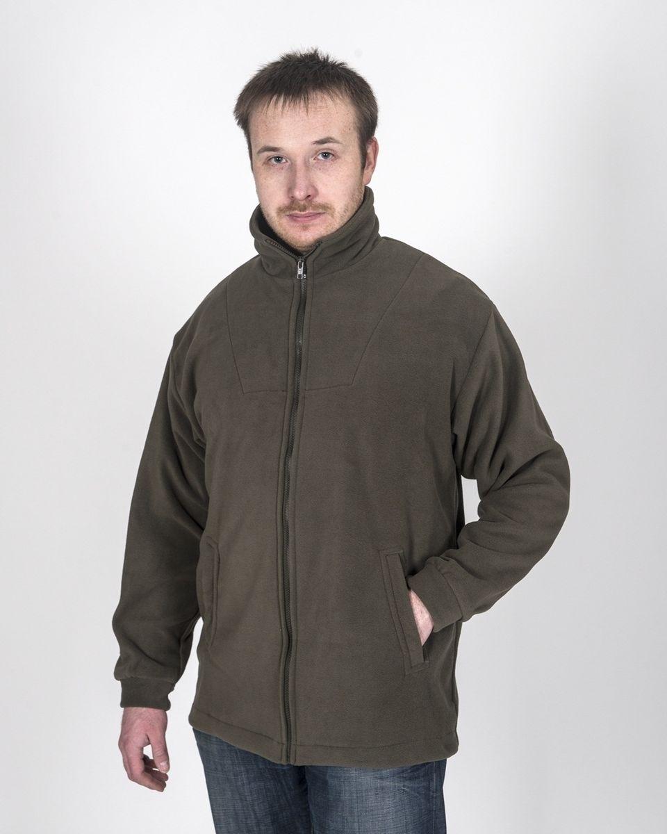 Куртка Fisherman Комфорт, цвет: хаки. 55439. Размер 56/58КомфортФлисовая куртка Комфорт отлично заменит шерстяной свитер или кофту. Куртка имеет разъемную молнию, высокий воротник и два глубоких кармана. Низ куртки регулируется при помощи резинки и стоппера. Изготавливается из ткани Polar fleece плотностью 300 гр\м2.Polar fleece это: трикотажная ткань с двухсторонним ворсом: особо износоустойчивым с наружной стороны - Polar и очень мягким и комфортным с внутренней - fleece. Polar fleece - лучший современный заменитель шерсти, дышащий и не вызывающий аллергии.Основные достоинства и преимущества:высокоэффективная теплозащита; мягкость и комфорт при прикосновении; отлично впитывает влагу и не холодит тело при намокании, как одежда из хлопка; быстро высыхает после намокания – быстрее, чем хлопок или шерсть; не обладает усадкой после стирки; не растягивается и не теряет форму в процессе эксплуатации.