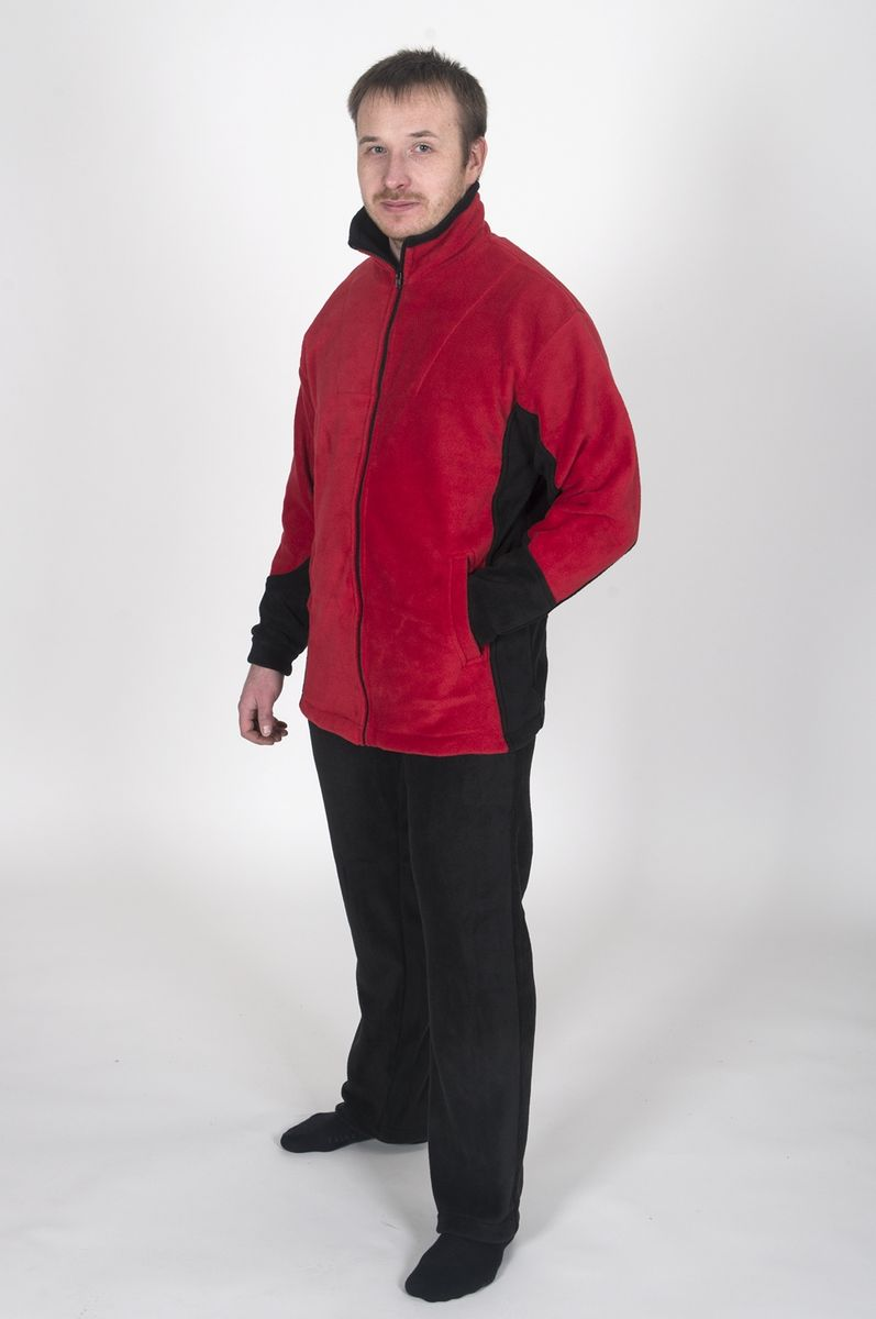 Куртка Fisherman Комфорт, цвет: красный, черный. 62235. Размер 54/56КомфортФлисовая куртка Комфорт отлично заменит шерстяной свитер или кофту. Куртка имеет разъемную молнию, высокий воротник и два глубоких кармана. Низ куртки регулируется при помощи резинки и стоппера. Изготавливается из ткани Polar fleece плотностью 300 гр\м2.Polar fleece это: трикотажная ткань с двухсторонним ворсом: особо износоустойчивым с наружной стороны - Polar и очень мягким и комфортным с внутренней - fleece. Polar fleece - лучший современный заменитель шерсти, дышащий и не вызывающий аллергии.Основные достоинства и преимущества:высокоэффективная теплозащита; мягкость и комфорт при прикосновении; отлично впитывает влагу и не холодит тело при намокании, как одежда из хлопка; быстро высыхает после намокания – быстрее, чем хлопок или шерсть; не обладает усадкой после стирки; не растягивается и не теряет форму в процессе эксплуатации.