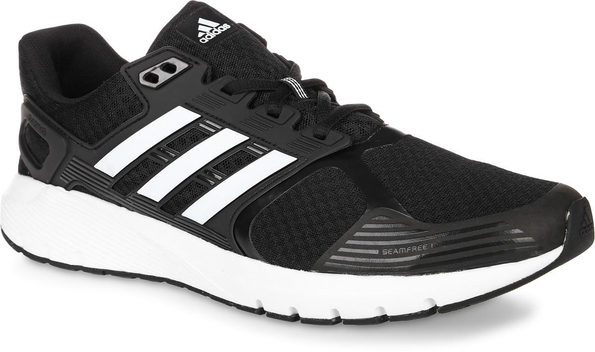 Кроссовки для бега мужские Adidas Duramo 8, цвет: черный, белый. BA8078. Размер 11 (44,5)BA8078Мужские кроссовки для бега adidas Duramo 8 выполнены из текстиля и оформлены фирменными накладками из полимера. Шнурки надежно зафиксируют модель на ноге. Внутренняя поверхность из сетчатого текстиля комфортна при движении. Стелька выполнена из легкого ЭВА-материала с поверхностью из текстиля.Подошва изготовлена из высококачественной легкой резины и оснащена технологией Cloudfoam для поглощения ударных нагрузок и комфортной посадки без разнашивания. Поверхность подошвы дополнена рельефным рисунком.
