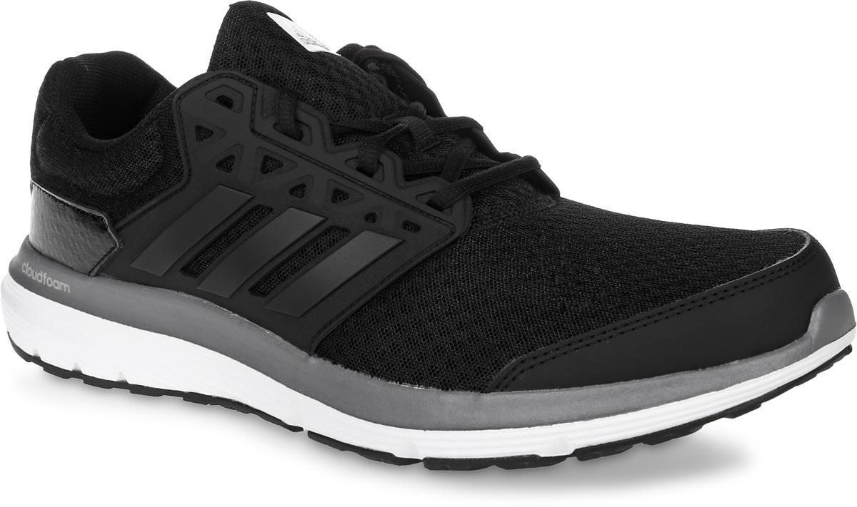 Кроссовки для бега мужские adidas Galaxy 3.1, цвет: черный. BB3187. Размер 12 (46)BB3187Мужские кроссовки для бега adidas Galaxy 3.1, выполненные из сетчатого текстиля и кожи, оформлены фирменными нашивками. Шнурки надежно зафиксируют модель на ноге. Внутренняя поверхность из текстиля комфортна при движении. Стелька выполнена из легкого ЭВА-материала с поверхностью из текстиля. Подошва изготовлена из высококачественной легкой резины и оснащена технологией Cloudfoam для поглощения ударных нагрузок и комфортной посадки без разнашивания. Поверхность подошвы дополнена рельефным рисунком.