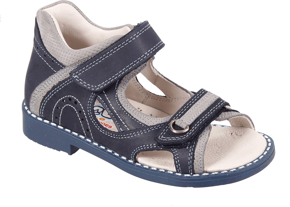 Сандалии для мальчика Tico, цвет: темно-синий, серый. P 904/110-98. Размер 27P 904/110-98Сандалии для мальчика Tico изготовлены из натурального нубука. На ноге модель фиксируют ремешки на липучке. Носок открыт. Внутренняя поверхность и стелька изготовлены из натуральной кожи. Подошва из термопластичного материала оснащена рифлением.