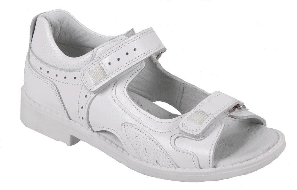 Сандалии для девочки Tico, цвет: белый. F 737/27-151. Размер 36F 737/27-151Сандалии для девочки от Tico выполнены из натуральной кожи. На ноге модель фиксируют ремешки на липучках. Носок открыт. Внутренняя поверхность и стелька изготовлены из натуральной кожи. Подошва из полимерного термопластичного материала оснащена рифлением.