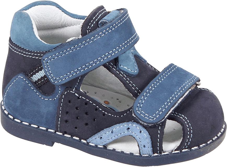 Сандалии для мальчика Tico, цвет: темно-синий, синий. i 046/169-121-130. Размер 20i 046/169-121-130Сандалии для мальчика от Tico выполнены из мягкой натуральной кожи. На ноге модель фиксируют ремешки на липучках. Внутренняя поверхность и стелька изготовлены из натуральной кожи. Подошва из полимерного термопластичного материала оснащена рифлением.