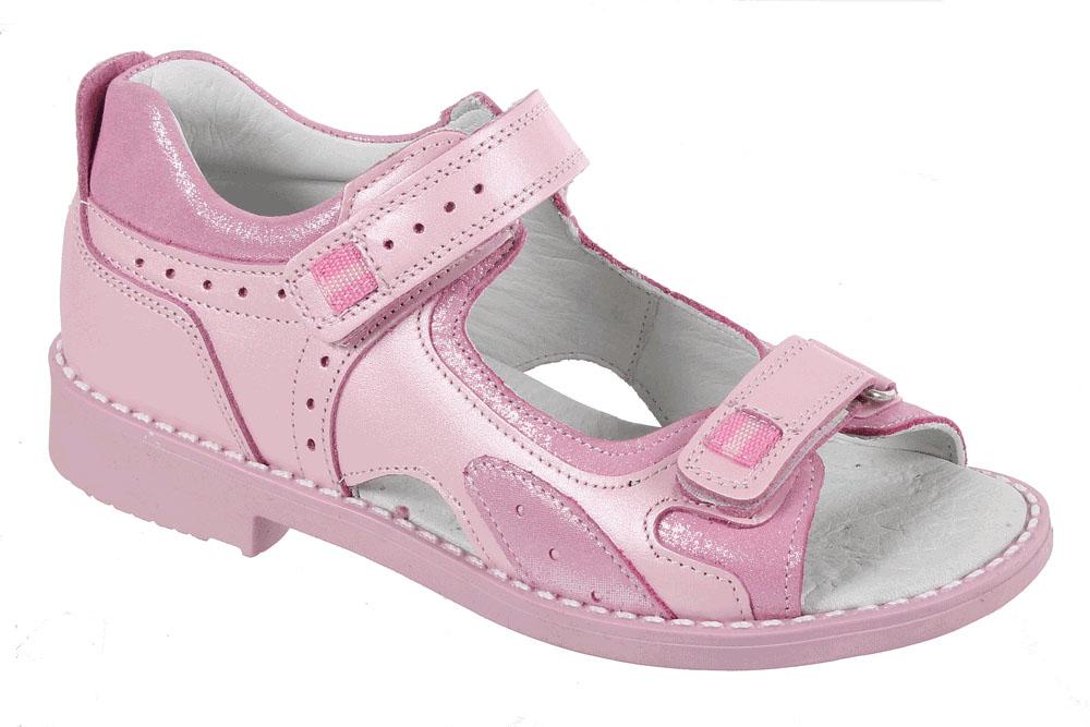 Сандалии для девочки Tico, цвет: розовый. F 737/32-180. Размер 34F 737/32-180Сандалии для девочки от Tico выполнены из натуральной кожи. На ноге модель фиксируют ремешки на липучках. Носок открыт. Внутренняя поверхность и стелька изготовлены из натуральной кожи. Подошва из полимерного термопластичного материала оснащена рифлением.