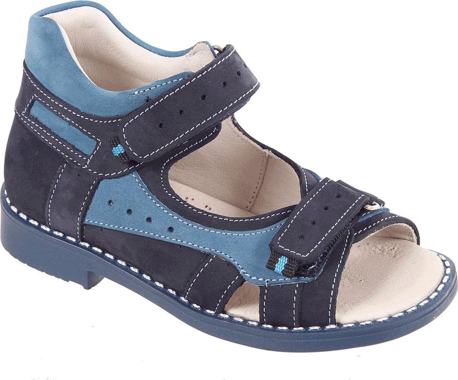 Сандалии для мальчика Tico, цвет: темно-синий, синий. Р 061/169-31. Размер 29Р 061/169-31Сандалии для мальчика Tico изготовлены из натурального нубука. На ноге модель фиксируют ремешки на липучках. Носок открыт. Внутренняя поверхность и стелька изготовлены из натуральной кожи. Подошва из термопластичного материала оснащена рифлением.