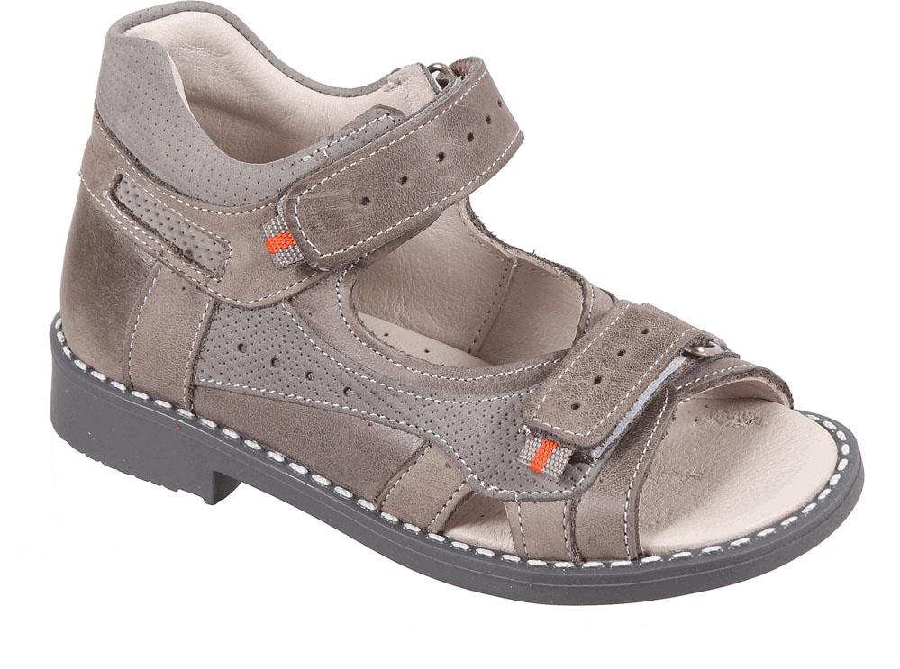 Сандалии для мальчика Tico, цвет: коричневый, серый. Р 061/100-98. Размер 26Р 061/100-98Сандалии для мальчика Tico изготовлены из натурального нубука. На ноге модель фиксируют ремешки на липучках. Носок открыт. Внутренняя поверхность и стелька изготовлены из натуральной кожи. Подошва из термопластичного материала оснащена рифлением.