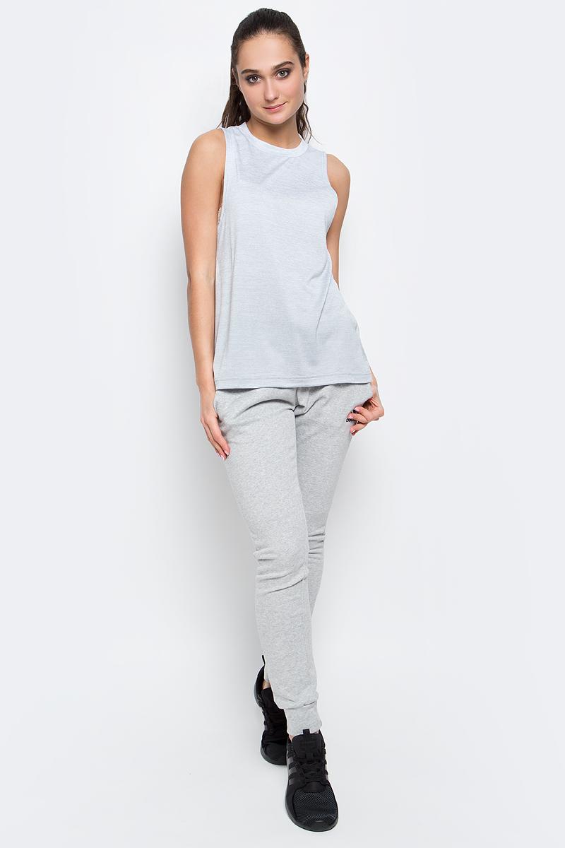 Майка женская adidas Boxtank Mel, цвет: серый. BQ2165. Размер L (48/50)BQ2165Меланжевая майка Boxtank Mel от adidas выполнена из функциональной мягкой ткани с технологией climalite, которая эффективно отводит излишки влаги и тепла. У модели круглый ворот, разрезы по бокам и удлиненная спинка. Свободный крой и удлиненный фасон обеспечивает свободу движений и уверенность во время подтягиваний и тяги в наклоне.