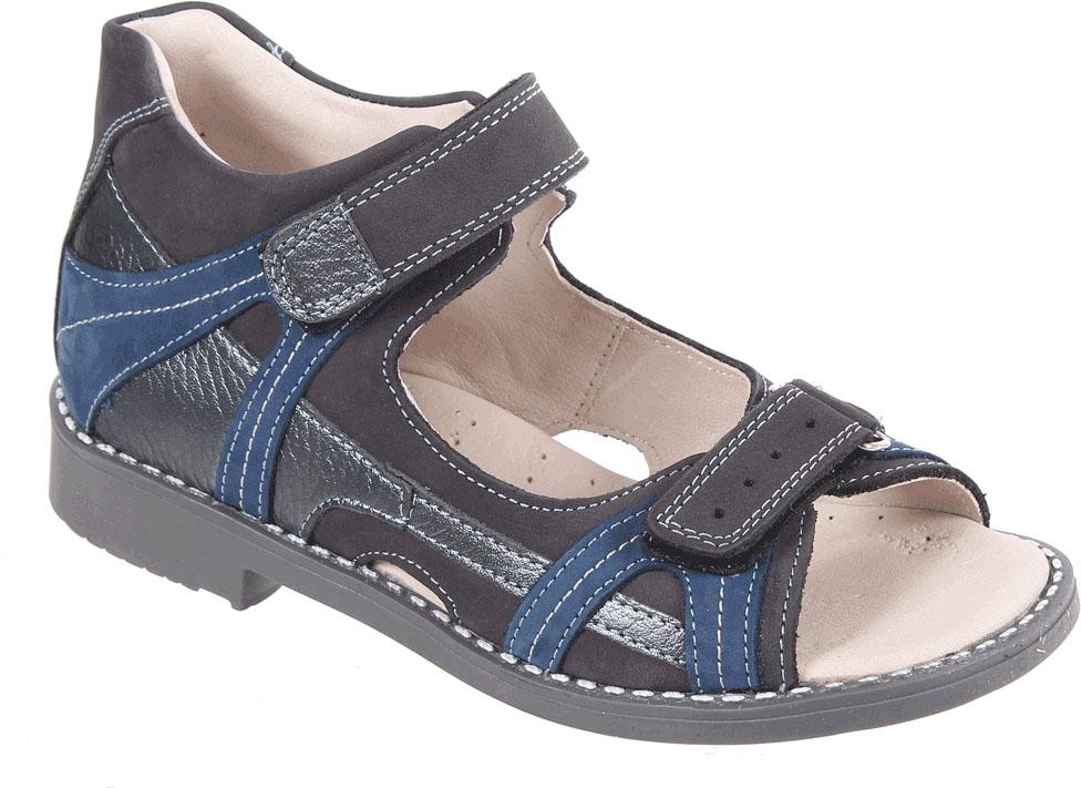 Сандалии для мальчика Tico, цвет: темно-серый. F 906/76-158-121. Размер 33F 906/76-158-121Сандалии для мальчика от Tico выполнены из натуральной кожи разной фактуры. На ноге модель фиксируют ремешки на липучках. Носок открыт. Внутренняя поверхность и стелька изготовлены из натуральной кожи. Подошва из полимерного термопластичного материала оснащена рифлением.