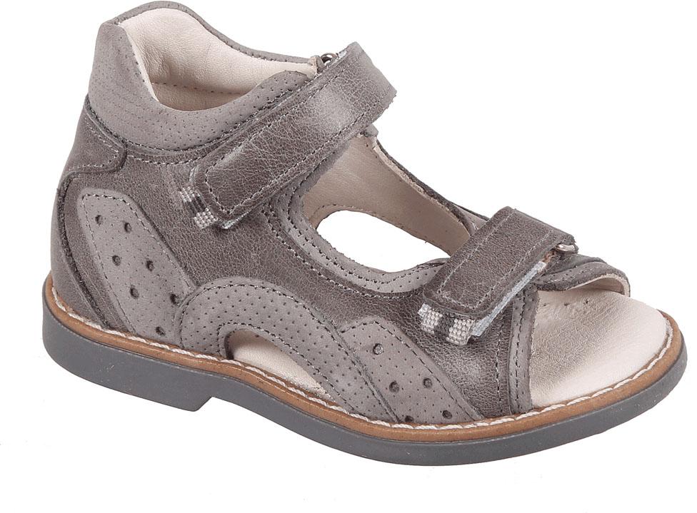 Сандалии для мальчика Tico, цвет: серый. B 446/100-98. Размер 24B 446/100-98Сандалии для мальчика от Tico выполнены из комбинированной натуральной кожи. На ноге модель фиксируют ремешки на липучках. Носок открыт. Внутренняя поверхность и стелька изготовлены из натуральной кожи. Подошва из полимерного термопластичного материала оснащена рифлением.