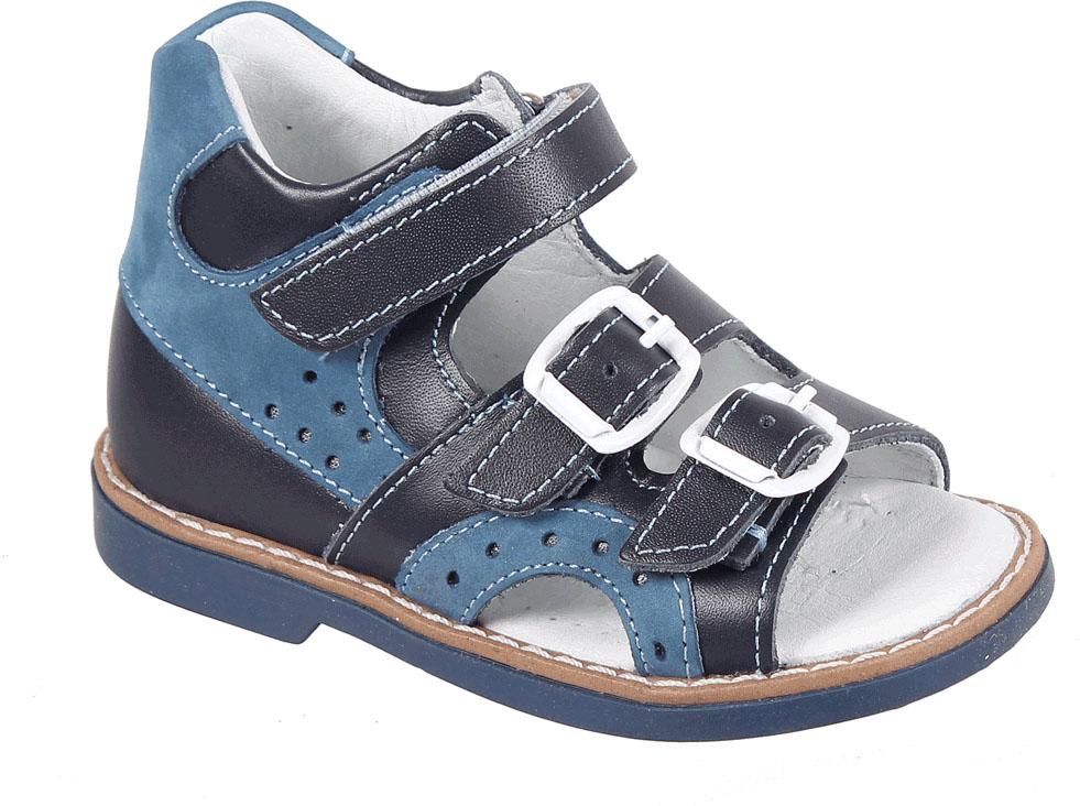 Сандалии для мальчика Tico, цвет: синий. B 440/17-31. Размер 23B 440/17-31Сандалии для мальчика от Tico выполнены из комбинированной натуральной кожи. На ноге модель фиксируют ремешки: один из них на липучке, два других - на пряжке. Внутренняя поверхность и стелька изготовлены из натуральной кожи. Подошва из полимерного термопластичного материала оснащена рифлением.
