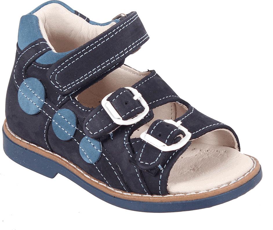 Сандалии для мальчика Tico, цвет: темно-синий. В 019/169-73-31. Размер 25В 019/169-73-31Сандалии для мальчика Tico изготовлены из натурального нубука. На ноге модель фиксируют ремешки: один из них на липучке, два других - на пряжке. Внутренняя поверхность и стелька изготовлены из натуральной кожи. Подошва из термопластичного материала оснащена рифлением.