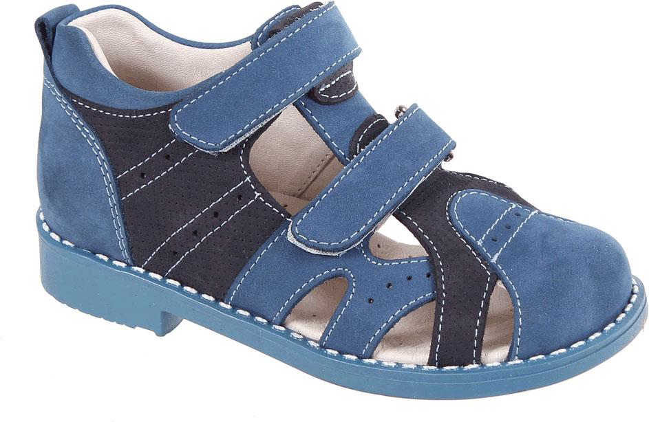Сандалии для мальчика Tico, цвет: синий, темно-синий. P 3040/121-22. Размер 29P 3040/121-22Сандалии для мальчика от Tico выполнены из натурального нубука. На ноге модель фиксируют ремешки с липучками. Внутренняя поверхность и стелька изготовлены из натуральной кожи. Подошва из полимерного термопластичного материала оснащена рифлением.
