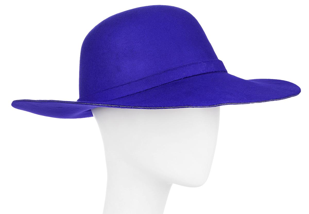 Шляпа женская Kawaii Factory, цвет: синий. KW081-000235. Размер: 57KW081-000235Женская шляпа Kawaii Factory имеет широкие поля и оформлена узлом на ленте. Изделие исполнено из плотной искусственной шерсти. Уважаемые клиенты!Размер, доступный для заказа, является обхватом головы.
