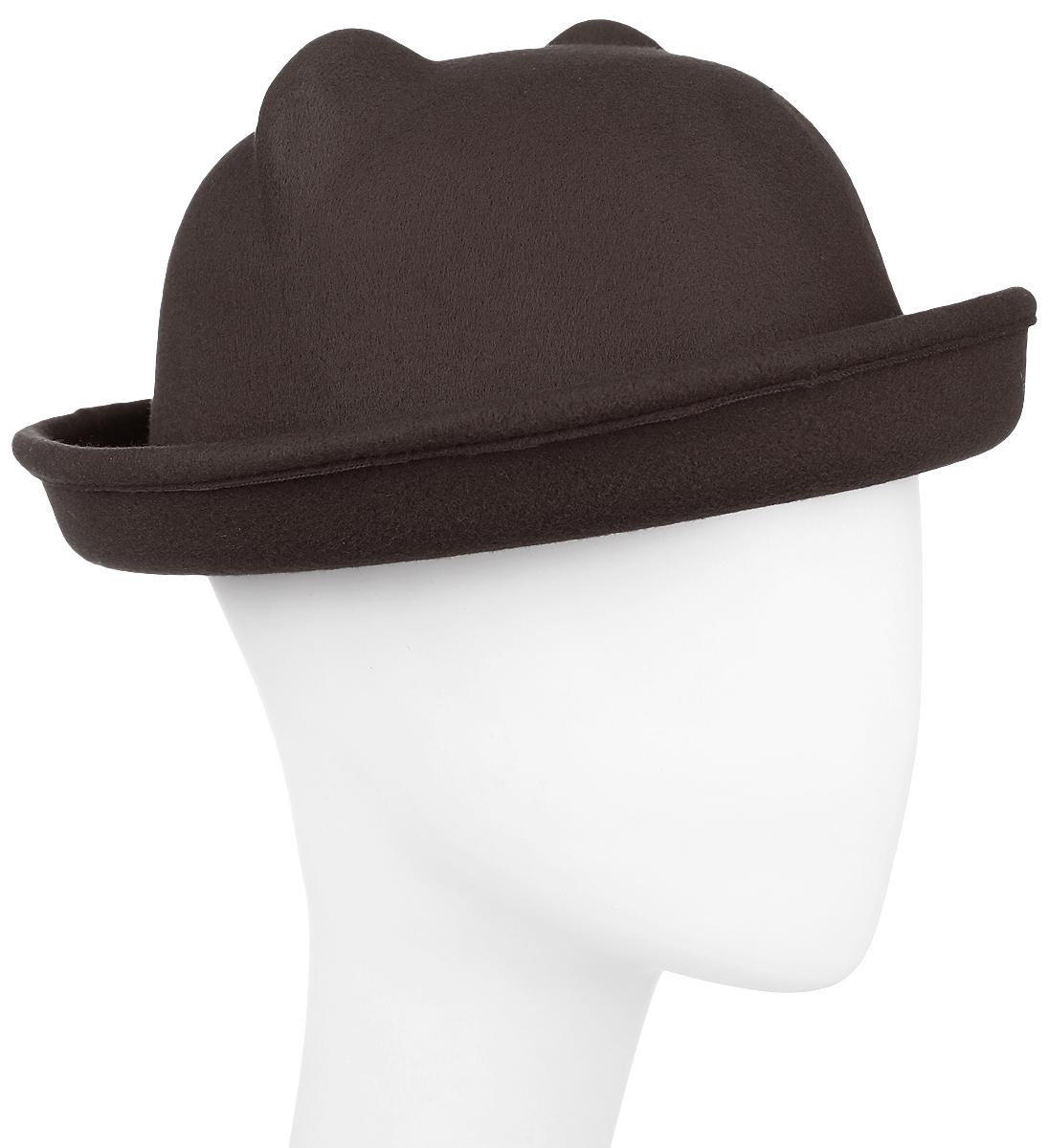 Шляпа женская Kawaii Factory, цвет: коричневый. KW081-000266. Размер: 57KW081-000266Шляпа женская Kawaii Factory оформлена двумя ушками на макушке, имитирующими кошачьи. Шляпа имеет большой процент содержания шерсти. Добавление в состав полиэстера снижает риск деформации изделия. Шляпа имеет небольшие загнутые кверху поля. Уважаемые клиенты!Размер, доступный для заказа, является обхватом головы.