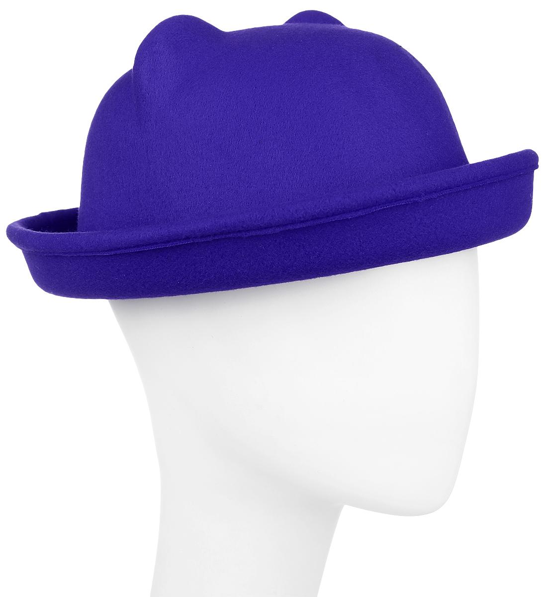 Шляпа женская Kawaii Factory, цвет: синий. KW081-000265. Размер: 57KW081-000265Шляпа женская Kawaii Factory оформлена двумя ушками на макушке, имитирующими кошачьи. Шляпа имеет большой процент содержания шерсти. Добавление в состав полиэстера снижает риск деформации изделия. Шляпа имеет небольшие загнутые кверху поля. Уважаемые клиенты!Размер, доступный для заказа, является обхватом головы.
