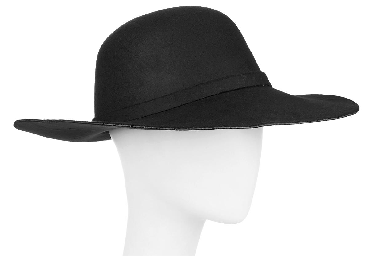 Шляпа женская Kawaii Factory, цвет: черный. KW081-000232. Размер: 57KW081-000232Женская шляпа Kawaii Factory имеет широкие поля и оформлена узлом на ленте. Изделие исполнено из плотной искусственной шерсти. Уважаемые клиенты!Размер, доступный для заказа, является обхватом головы.