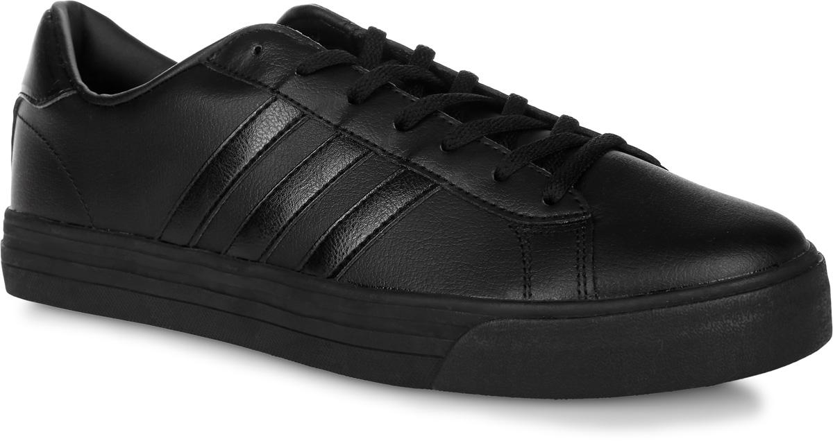 Кроссовки мужские adidas Neo Cloudfoam Super Daily, цвет: черный. AW3902. Размер 10 (43)AW3902Мужские кроссовки adidas Neo Cloudfoam Super Daily, выполненные из натуральной и искусственной кожи, оформлены фирменными нашивками и надписями. Шнурки надежно зафиксируют модель на ноге. Внутренняя поверхность из натуральной кожи и текстиля комфортны при движении. Стелька выполнена из легкого ЭВА-материала с поверхностью из текстиля и оснащена технологией Cloudfoam Memory, благодаря которой стелька плотно прилегает к стопе, обеспечивая безупречный комфорт. Подошва Cloudfoam Super с ультрамягкими вставками изготовлена из высококачественной резины и дополнена рельефным рисунком.