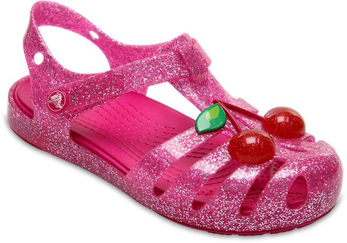Сандалии для девочки Crocs, цвет: розовый. 204529-6JU. Размер C7 (24)204529-6JUМодные сандалии от Crocs очаруют вашего ребенка с первого взгляда! Модель, выполненная из полимера Croslite. Материал Croslite - бактериостатичен, препятствует появлению неприятных запахов и легок в уходе: быстро сохнет и не оставляет следов на любых поверхностях. Рельефная поверхность верхней части подошвы комфортна при движении. Рифленое основание подошвы гарантирует идеальное сцепление с любой поверхностью. Такие сандалии принесут комфорт и радость вашему ребенку.