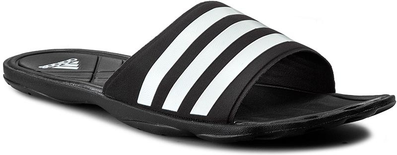 Шлепанцы мужские adidas Adipure Cf, цвет: черный. AQ3936. Размер 8 (40,5)AQ3936Шлепанцы мужские выполнены с цельным верхом из синтетических материалов. Мягкая быстросохнущая стелька cloudfoam и резиновая подошва. Имеется логотип adidas на промежуточной подошве и подметке.
