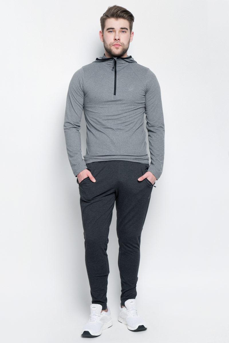 Брюки спортивные мужcкие Asics Knit Train Pant, цвет: черный. 141082-0934. Размер M (48/50)141082-0934Спортивные мужские брюки Asics Knit Train Pant выполнены из эластичного хлопка с добавлением полиэстера. Модель-скинни плотно прилегает к телу и великолепно тянется, обеспечивая комфорт во время тренировок.Изделие имеет широкую эластичную резинку на поясе, объем талии регулируется при помощи внутреннего шнурка-кулиски. Брюки дополнены двумя втачными карманами на застежках-молниях спереди, а также оснащены застежками-молниями по низу брючин.
