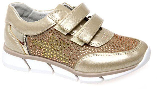 Полуботинки для девочки Сказка, цвет: золотой. R703422542. Размер 28R703422542Модные полуботинки Сказка не оставят равнодушным вашего ребенка! Модель выполнена из натуральной и искусственной кожи. Ремешки на застежках-липучках, обеспечивают надежную фиксацию обуви на ноге. Внутренняя поверхность из натуральной кожи. Стильные полуботинки - незаменимая вещь в гардеробе ребенка.