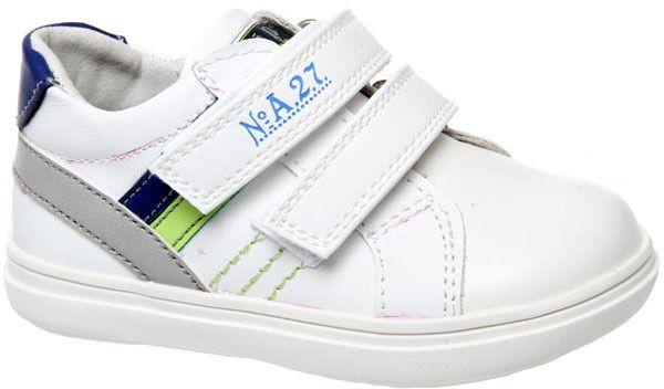 Полуботинки для мальчика Сказка, цвет: белый. R612522101. Размер 22R612522101Модные полуботинки Сказка не оставят равнодушным вашего мальчика! Модель выполнена из натуральной и искусственной кожи. Ремешки на застежках-липучках, обеспечивают надежную фиксацию обуви на ноге. Внутренняя поверхность из натуральной кожи. Стильные полуботинки - незаменимая вещь в гардеробе вашего мальчика.