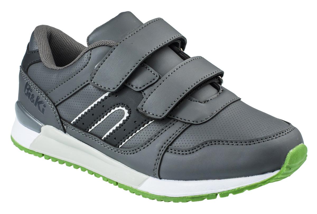 Кроссовки для мальчика BiKi, цвет: темно-серый, черный. A-B86-05-C. Размер 33A-B86-05-CКроссовки от фирмы BiKi выполнены из искусственной кожи с перфорацией. Застежки-липучки обеспечивают надежную фиксацию обуви на ноге ребенка. Подкладка выполнена из текстиля и натуральной кожи, что предотвращает натирание и гарантирует уют. Подошва с рифлением обеспечивает идеальное сцепление с любыми поверхностями. Стильные и удобные кроссовки - незаменимая вещь в гардеробе каждого школьника.