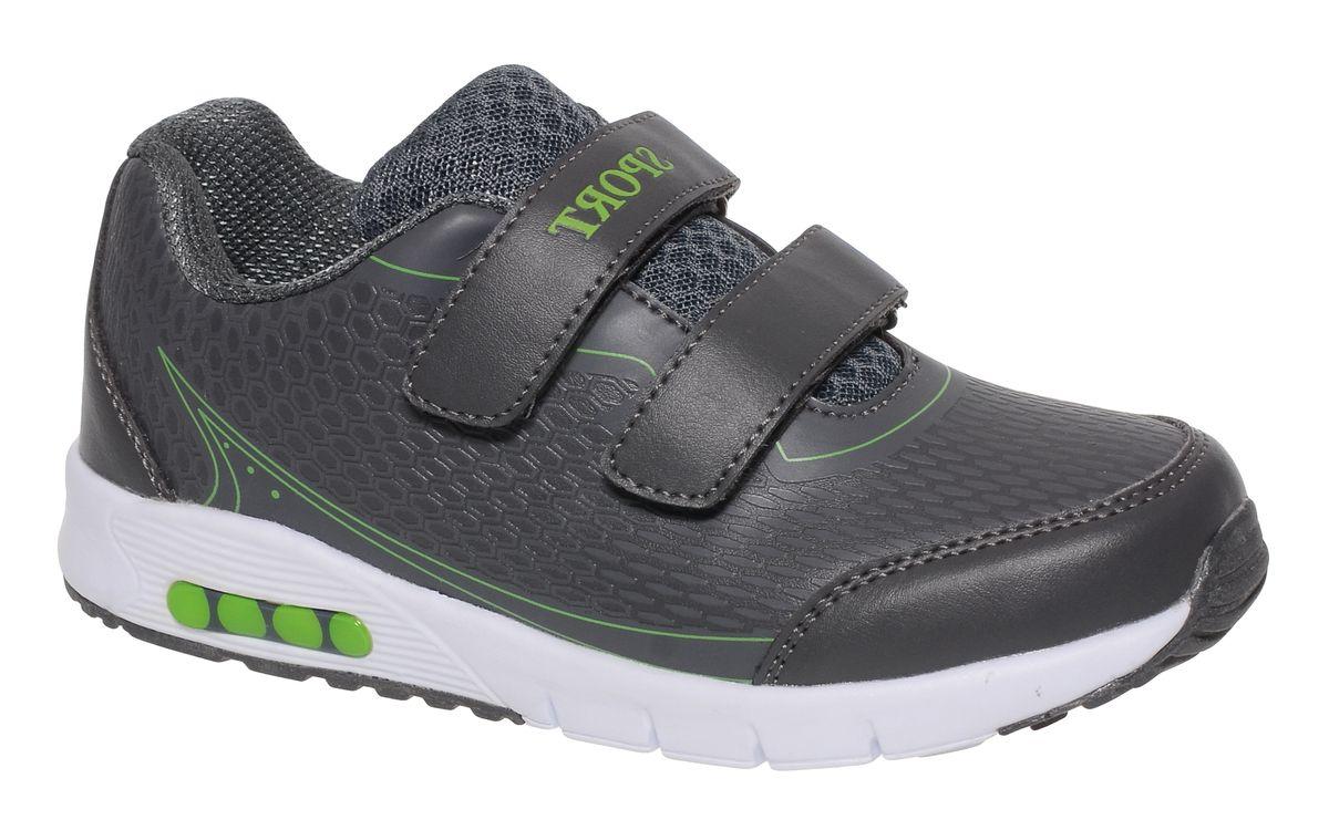 Кроссовки для мальчика BiKi, цвет: темно-серый. A-B86-11-B. Размер 34A-B86-11-BКроссовки от фирмы BiKi выполнены из искусственной кожи с фактурным тиснением. Застежки-липучки обеспечивают надежную фиксацию обуви на ноге ребенка. Подкладка выполнена из текстиля и натуральной кожи, что предотвращает натирание и гарантирует уют. Подошва с рифлением обеспечивает идеальное сцепление с любыми поверхностями. Стильные и удобные кроссовки - незаменимая вещь в гардеробе каждого школьника.