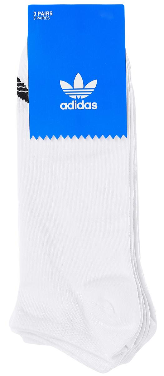 Носки adidas Trefoil Liner, цвет: белый, 3 пары. S20273. Размер 35/38S20273Носки adidas Trefoil Liner изготовлены из высококачественного эластичного хлопка с добавлением полиэстера. Укороченные носки с поддержкой стопы имеют эластичную резинку, которая надежно фиксирует носки на ноге. В комплект входят 3 пары носков, оформленных логотипом бренда adidas.
