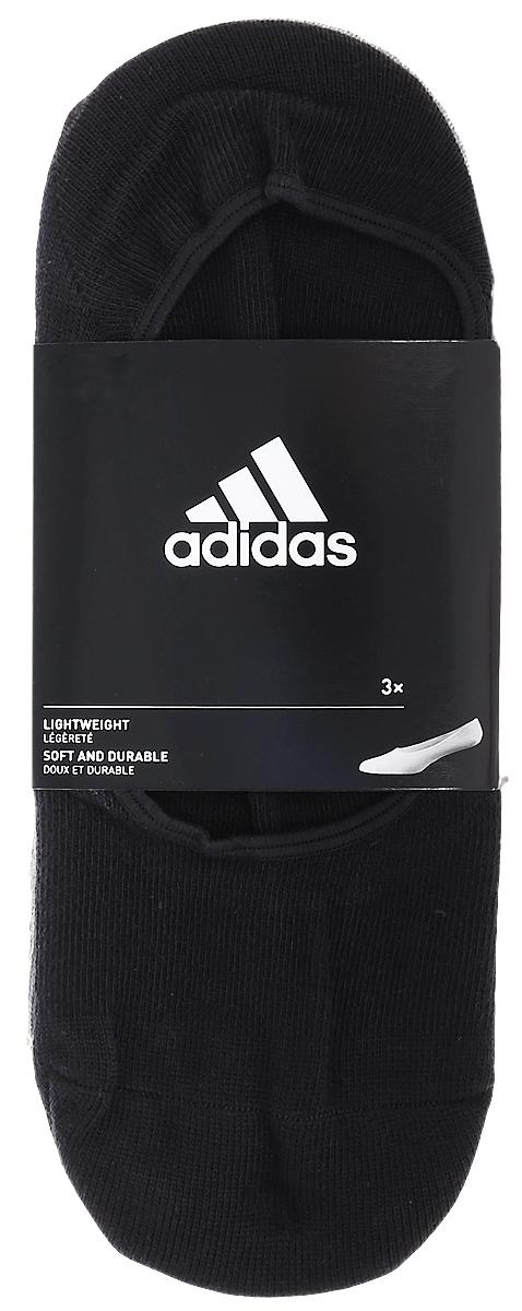 Носки женские adidas Per W Inv T, цвет: белый, серый, черный, 3 пары. AA2303. Размер 35/38AA2303Носки adidas Per W Inv T изготовлены из высококачественного эластичного хлопка с добавлением полиэстера. Носки с очень низкой посадкой и укрепленным сводом стопы полностью закрываются обувью. В комплект входят 3 пары носков.