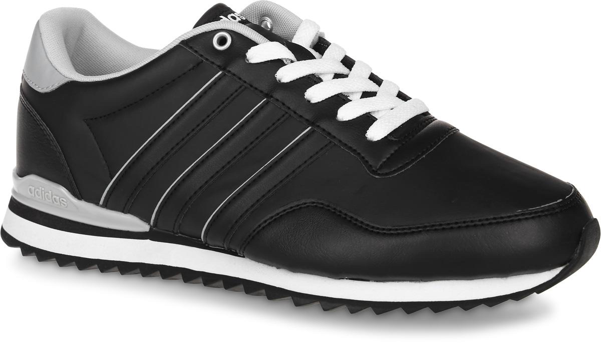 Кроссовки мужские adidas Neo Jogger Cl, цвет: черный. AW4073. Размер 8,5 (41)AW4073Мужские кроссовки adidas Neo Jogger Cl, выполненные из искусственной кожи, оформлены фирменными нашивками и надписями. Шнурки надежно зафиксируют модель на ноге. Внутренняя поверхность из сетчатого текстиля комфортна при движении. Стелька выполнена из легкого ЭВА-материала с поверхностью из текстиля. Подошва изготовлена из высококачественной резины и дополнена рельефным рисунком.