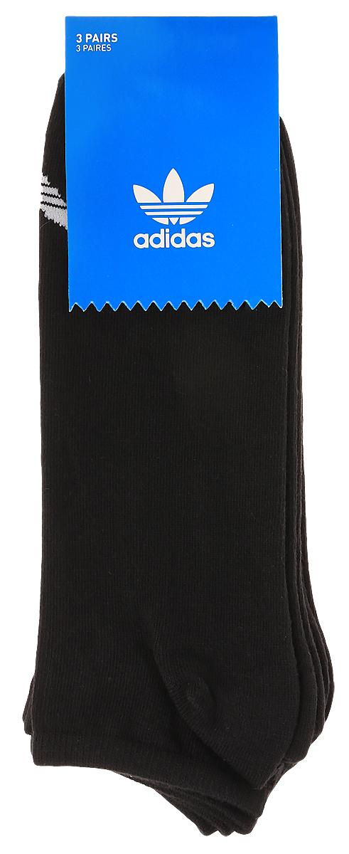 Носки adidas Trefoil Liner, цвет: черный, 3 пары. S20274. Размер 43/46S20274Носки adidas Trefoil Liner изготовлены из высококачественного эластичного хлопка с добавлением полиэстера. Укороченные носки с поддержкой стопы имеют эластичную резинку, которая надежно фиксирует носки на ноге. В комплект входят 3 пары носков, оформленных логотипом бренда adidas.