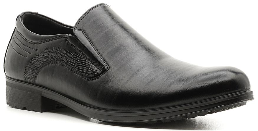 Туфли мужские Marko, цвет: черный. 847011. Размер 40847011Стильные мужские туфли отлично дополнят ваш деловой образ.Модель выполнена из искусственной кожи. Резинки, расположенные на подъеме, обеспечивают оптимальную посадку модели на ноге. Кожаная стелька с супинатором обеспечивает максимальный комфорт при движении. Подошва с рифлением обеспечивают отличное сцепление с поверхностью.