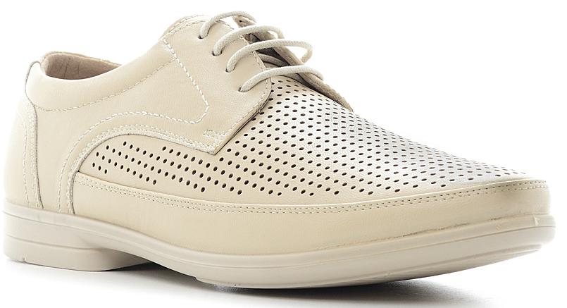 Туфли мужские Marko, цвет: светло-бежевый. 844012. Размер 42844012Элегантные мужские туфли от Marko отлично дополнят ваш деловой образ.Модель выполнена из высококачественной синтетической кожи, оформлена декоративным внешним швом и перфорацией. Классическая шнуровка на подъеме обеспечит оптимальную посадку модели на ноге. Кожаная стелька с супинатором обеспечивает максимальный комфорт при движении. Умеренной высоты каблук и подошва с рифлением обеспечивают отличное сцепление с поверхностью.