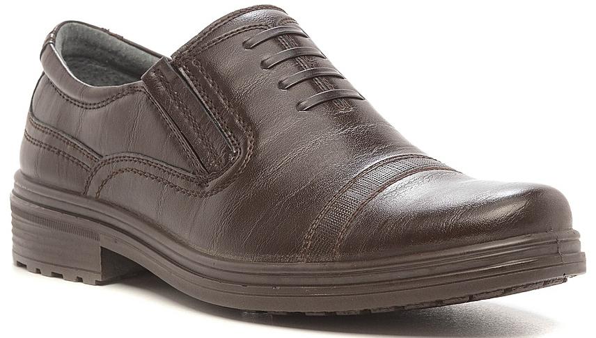 Полуботинки для мальчика San Marko, цвет: коричневый. 73048. Размер 4173048Стильные полуботинки для мальчика выполнены из высококачественной искусственной кожи. Резинки на подъеме отлично зафиксируют модель на ноге. Кожаная стелька и внутренняя поверхность обеспечивают максимальный комфорт при движении. Подошва оснащена рифлением.