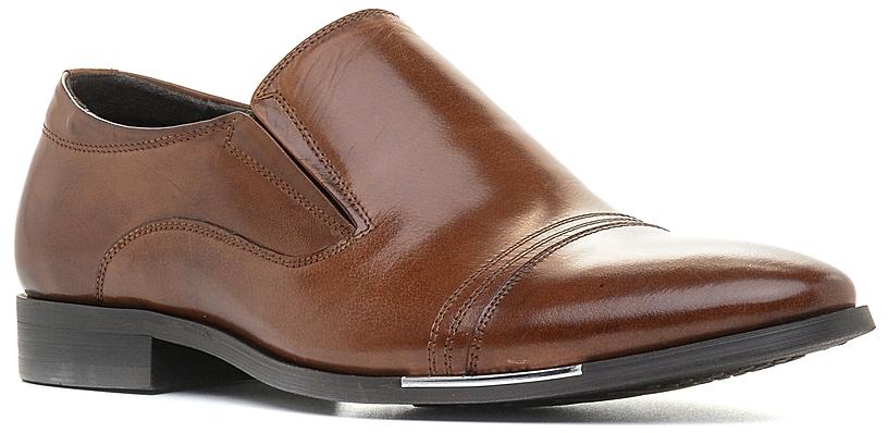 Туфли мужские Bravo, цвет: рыжий. 727083. Размер 40727083Элегантные мужские туфли отлично дополнят ваш деловой образ.Модель выполнена из высококачественной натуральной кожи. Резинки, расположенные на подъеме, обеспечивают оптимальную посадку модели на ноге. Кожаная стелька с супинатором обеспечивает максимальный комфорт при движении. Умеренной высоты каблук и подошва с рифлением обеспечивают отличное сцепление с поверхностью.