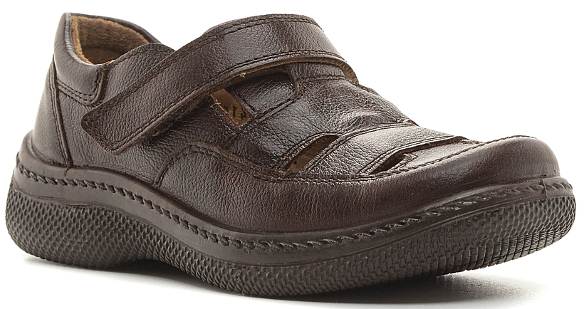 Туфли для мальчика San Marko, цвет: коричневый. 6414. Размер 366414Модные туфли для мальчика выполнены из высококачественной натуральной кожи. Хлястик с липучкой, расположенный на подъеме, обеспечивает оптимальную посадку модели на ноге. Кожаная стелька с супинатором обеспечивает максимальный комфорт при движении. Подошва с рифлением обеспечивают отличное сцепление с поверхностью.