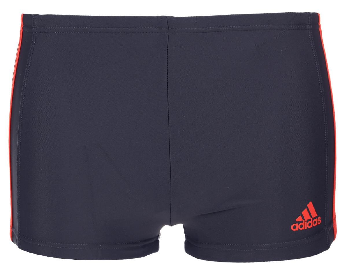 Плавки-боксеры мужские adidas Inf Ec3S Bx, цвет: темно-серый. BQ0634. Размер 4 (46)BQ0634Плавательные мужские боксеры adidas Inf Ec3S Bx выполнены из полиамида с добавлением эластана. Эти удобные мужские боксеры помогут справиться даже с самыми тяжелыми тренировками. Они сделаны из материала InfIinitex, который сопротивляется воздействию хлора. Оформлена модель классическими тремя полосами и логотипом бренда.
