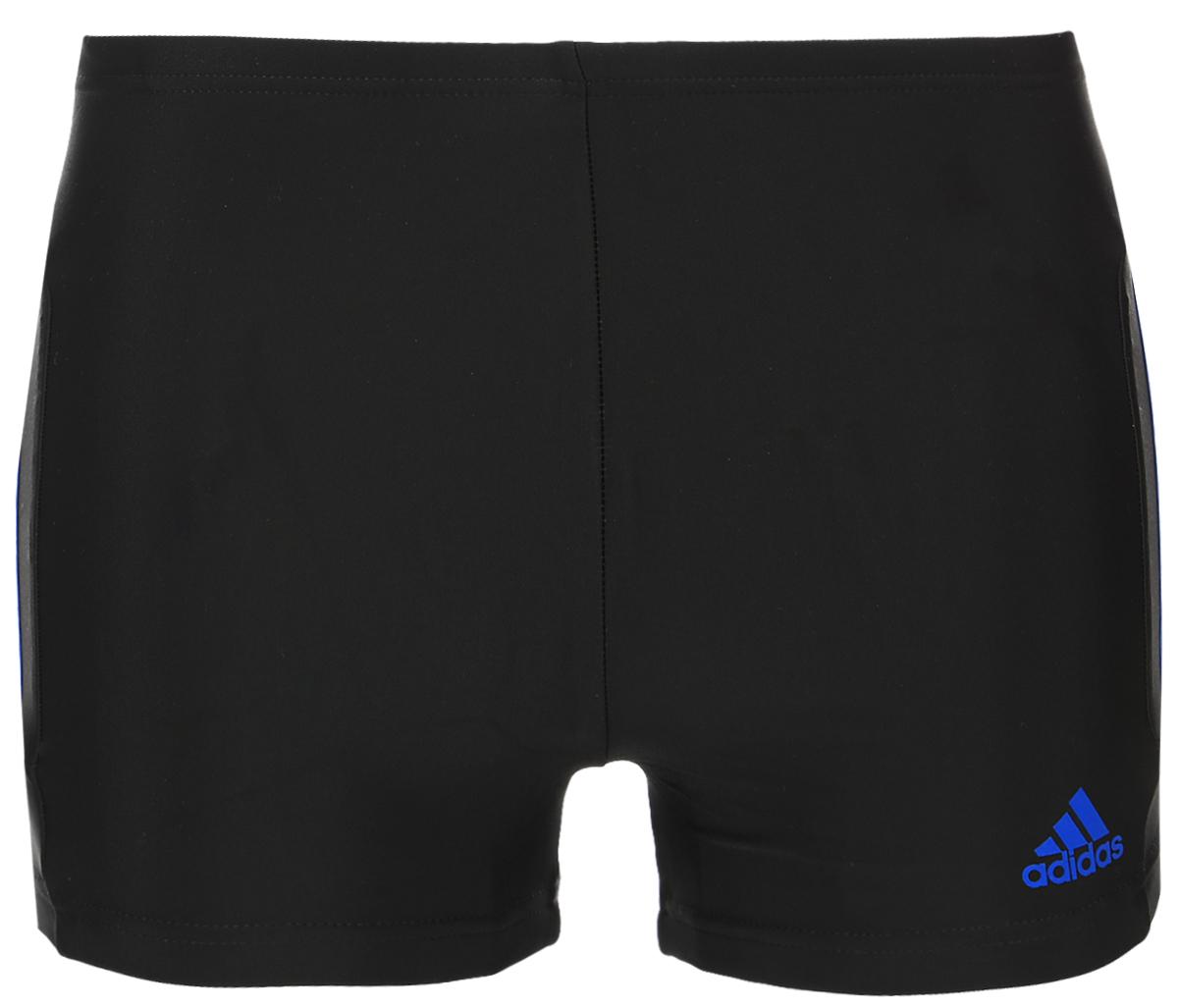 Плавки-боксеры мужские adidas Inf Ec3Sm Bx, цвет: черный. BP9520. Размер 4 (46)BP9520Плавательные мужские боксеры aadidas Inf Ec3Sm Bx выполнены из полиамида с добавлением эластана. Эти удобные мужские боксеры помогут справиться даже с самыми тяжелыми тренировками. Они сделаны из материала InfIinitex, который сопротивляется воздействию хлора. Оформлена модель классическими тремя полосами и логотипом бренда на левом боку.