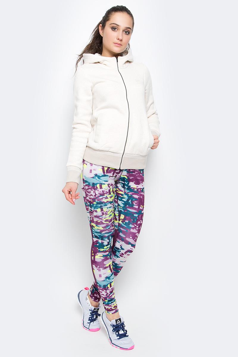 Толстовка женская Reebok F Fleece Full-Zip Hoody, цвет: бежевый. BK2474. Размер S (42/44)BK2474Толстовка F Fleece Full-Zip Hoody от Reebok выполнена из органического хлопка с добавлением переработанного полиэстера, изнаночная сторона - изфлисового трикотажа. Ворот модели дополнен капюшоном, боковые стороны - карманами на заклепках, манжеты и подол оформлены в рубчик. Спереди изделие застегивается на молнию.При производстве органического хлопка используется меньшее количество воды и снижается использование химикатов, а переработка полиэстера позволяет сохранить природные ресурсы и уменьшить выбросы в атмосферу.