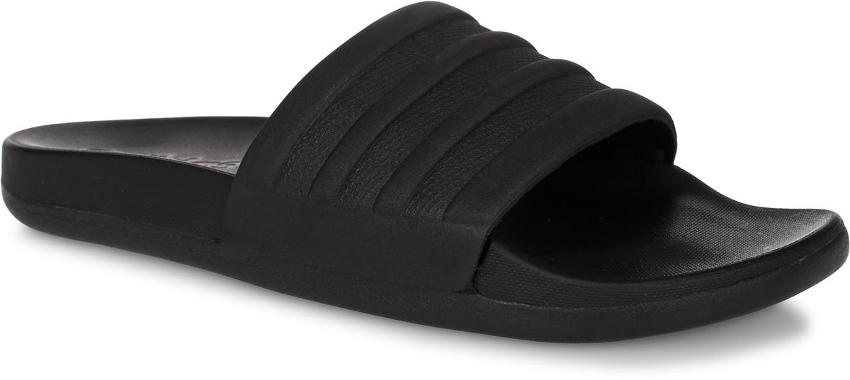 Шлепанцы женские adidas Performance Adilette Cf+ Mono, цвет: черный. BB1095. Размер 7 (39)BB1095Шлепанцы adidas Adilette Cf+ Mono выполнены из полимера и оформлены фирменным тиснением. Подкладка выполнена из текстиля. Промежуточная подошва из ЭВА-материала оснащена технологией cloudfoam ultra, которая обеспечит мягкость и комфорт. Поверхность подошвы выполнена из высококачественной резины и дополнена рельефным рисунком.