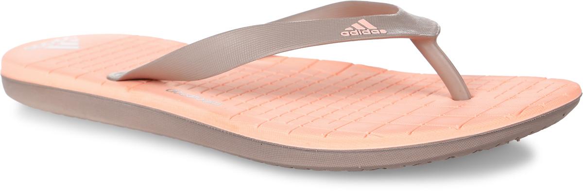 Сланцы женские adidas Performance Eezay Cf, цвет: тауп. BA8794. Размер 9 (42)BA8794Сланцы adidas Eezay Cf выполнены из полимера и оформлены фирменными надписями. Подошва и стелька из легкого ЭВА-материала оснащены технологией cloudfoam для поглощения ударных нагрузок и комфортной посадки без разнашивания. Поверхность подошвы дополнена рельефным рисунком.