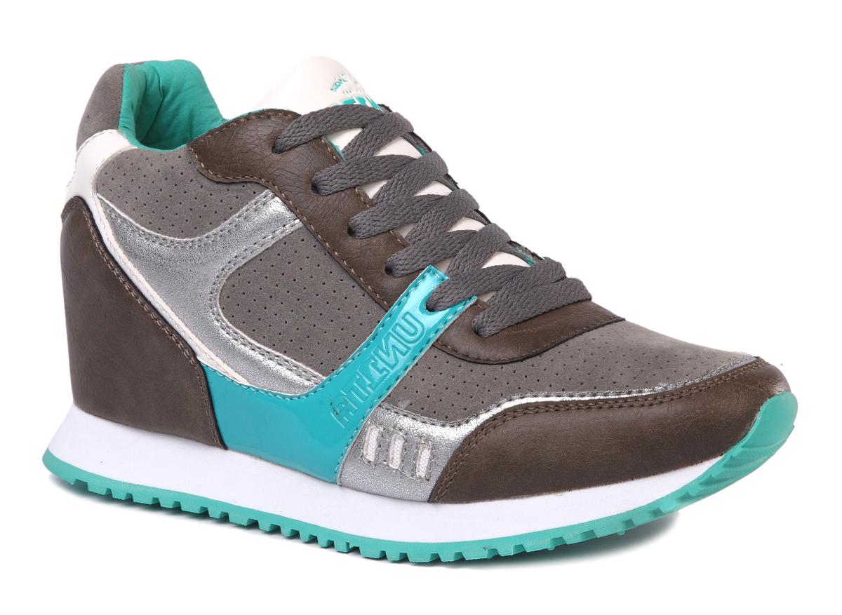 Кроссовки женские Un1ta, цвет: серый, коричневый, голубой. U673M-3. Размер 40U673M-3Легкие и стильные женские кроссовки от Un1ta отлично подойдут как для занятий спортом, так и для ежедневного использования. Верх обуви выполнен из искусственной кожи. Классическая шнуровка надежно зафиксирует изделие на ноге. Одна из боковых сторон оформлена фирменным логотипом. Подкладка и стелька из текстиля, обеспечивают дополнительный комфорт и предотвращают натирание. Подошва обеспечивает легкость и естественную свободу движений. Стильные кроссовки придутся вам по душе.