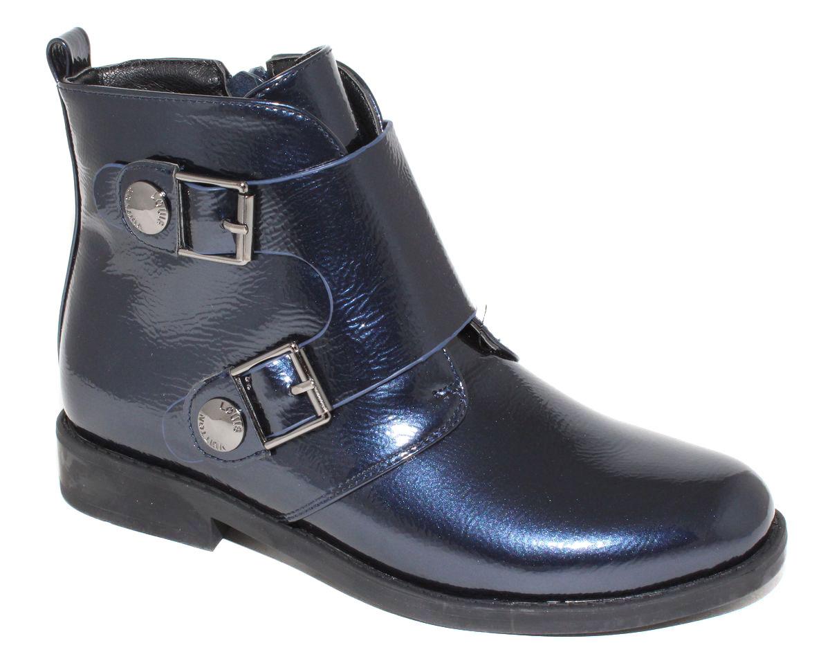 Ботинки для девочки Капитошка, цвет: синий. F6000. Размер 35F6000Стильные детские ботинки Капитошка для девочки выполнены из искусственной кожи. Изделие в области подъема украшено декоративными ремешками с металлической фурнитурой. Подкладка и стелька, выполненные из текстиля, обеспечат детским ножкам комфорт и уют. Удобные ботинки - необходимая вещь в гардеробе каждого ребенка.