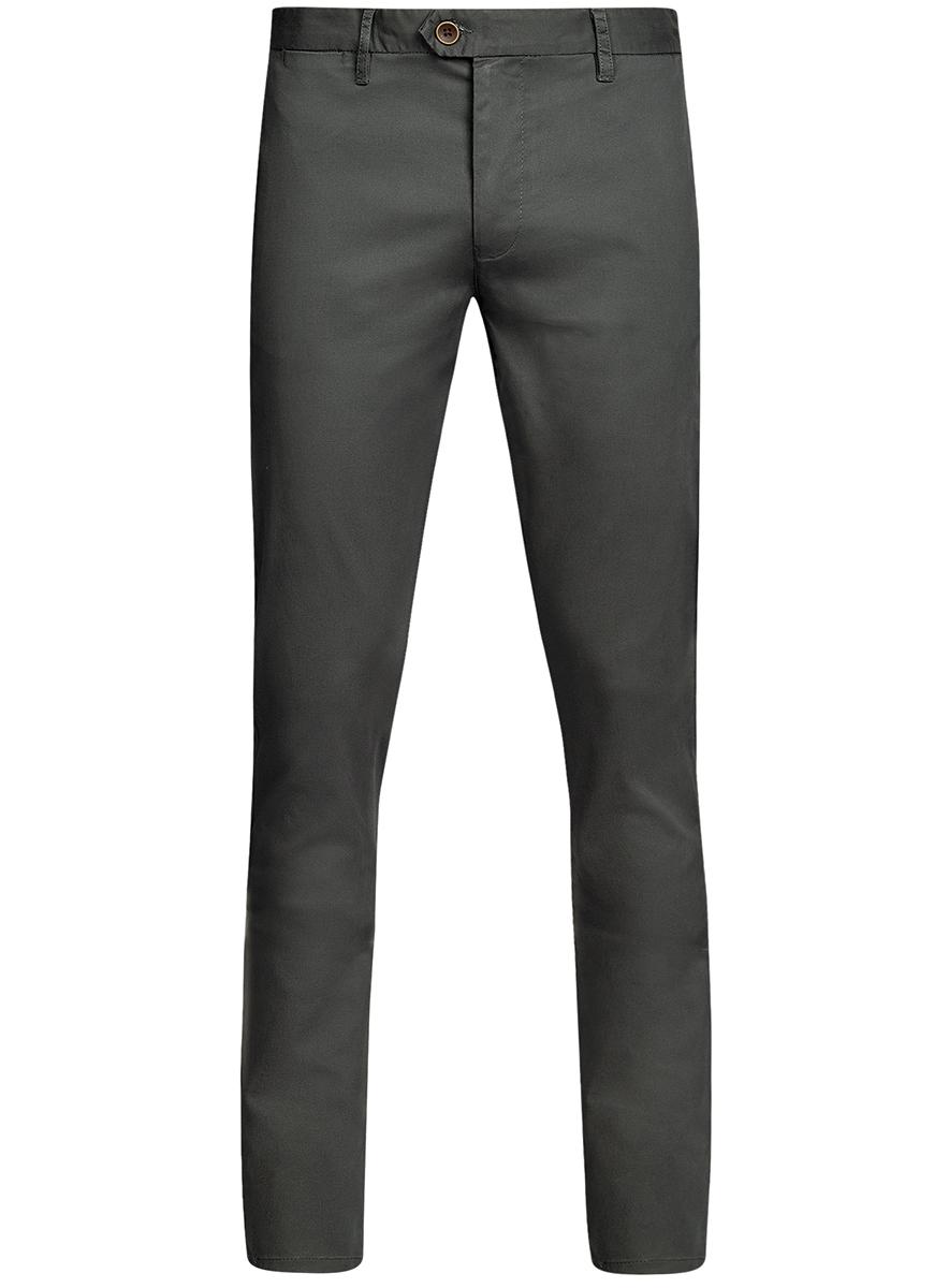 Брюки мужские oodji Basic, цвет: темно-серый. 2B150024M/19302N/2500N. Размер 38-182 (46-182)2B150024M/19302N/2500NМужские брюки oodji Basic выполнены из высококачественного материала. Модель-чинос стандартной посадки застегивается на пуговицу в поясе и ширинку на застежке-молнии. Пояс имеет шлевки для ремня. Спереди брюки дополнены втачными карманами, сзади - прорезными.
